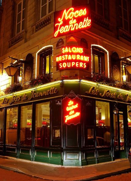 Meeting at a restaurant
